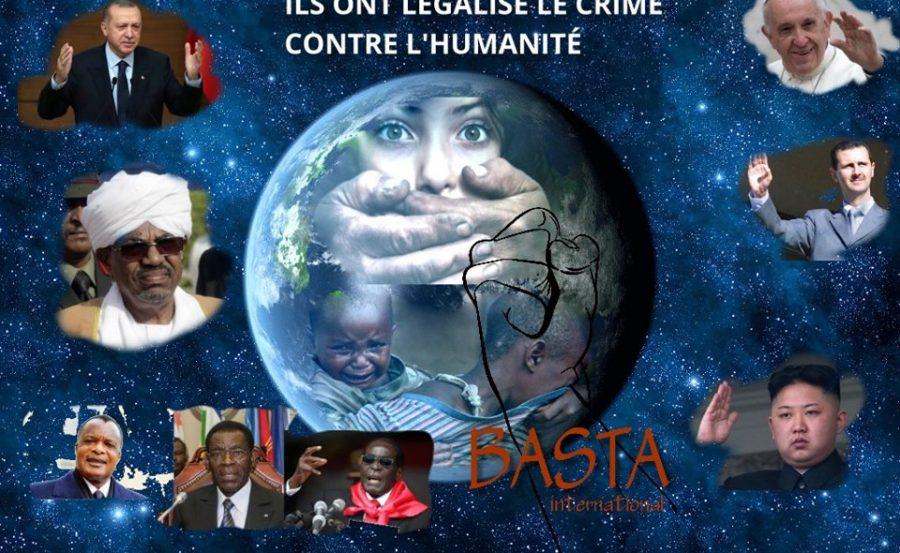 Ils ont légalisés le crime contre l'Humanité